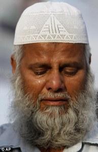 Muslims pray cry for Osama